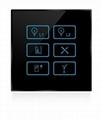 Wireless infrared wifi remote control networking zigbee lighting touch panel swi 5