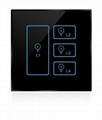 Wireless infrared wifi remote control networking zigbee dimmer touch panel switc 2