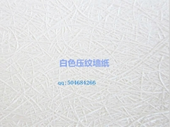 White embossing wallpaper material