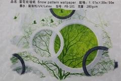 雪花纹墙纸材料