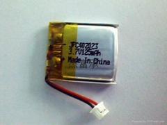302223锂聚合物电池 3.7V 100mAh 物联网专用电池