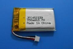 452339声卡锂电池  3.7V 350mAh 聚合物锂电池