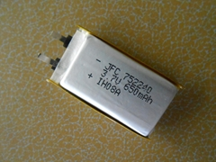 752240 3.7V 650MAH 锂聚合物电池