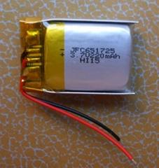 JFC 651725 3.7V 220mAh 锂离子充电电池