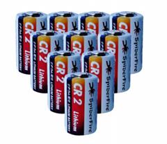 CR2 锂锰柱式电池  3.0V 900mAh 带PTC 防爆阀电池