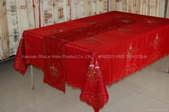 Embroidery Christmas Table Cloth   #08Z023