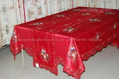 Embroidery Christmas Table Cloth #08TF007