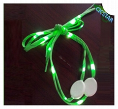 NEW STYLE LED FLASHING NYLON SHOELACE PARTY FOR HALLOWEEN DECORATION