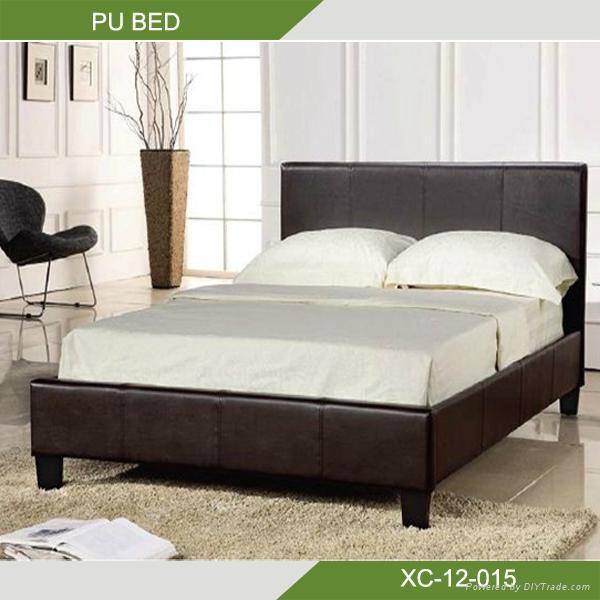 Modern soft PU bed XC-12-015  1