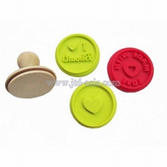 silicone cookie stamp