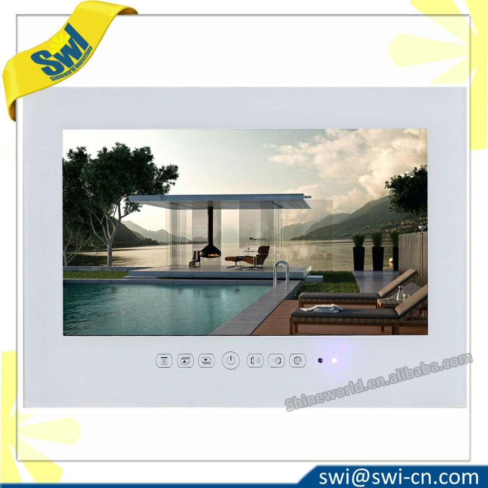 15.6inch Waterproof Glass Mirror LCD TV with IP68 for SPA and Salon 1