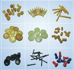 rubber components for disposable medical device