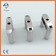 Stainless steel swing turnstile for entrance access control