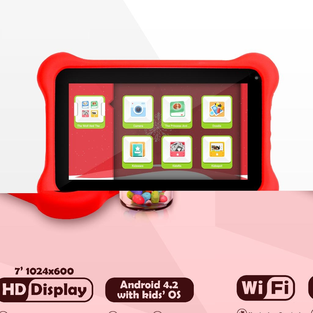 2014 New 7inch  Quad Core Tablet PC for Kids 3