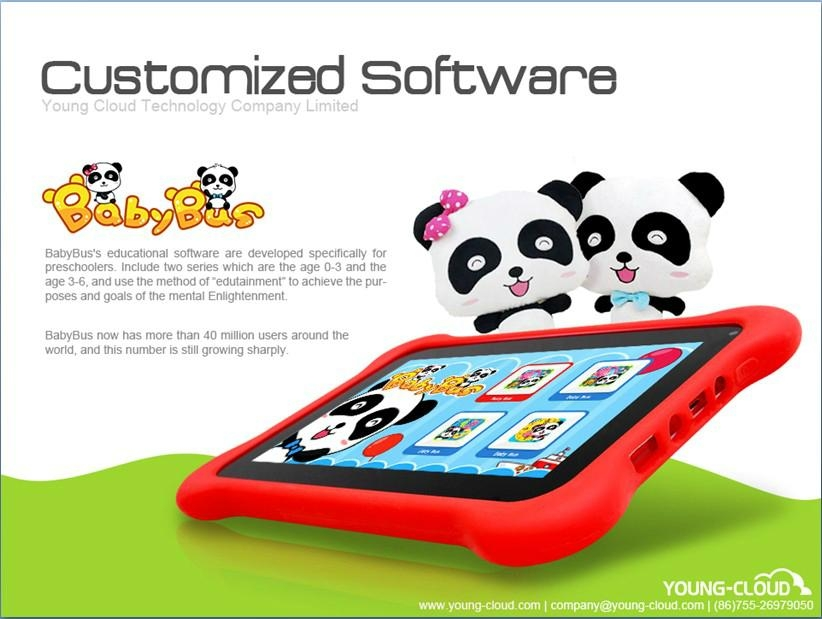 kids learning tablet pc with multi functions and contents 5