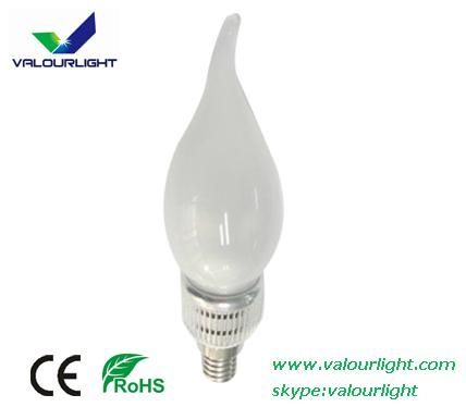3W LED bent-tip Bulb Dimmable E14 CE Rohs 1