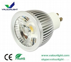 6W LED GU10 spotlight Dimmable CE Rohs SAA