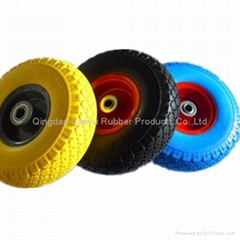 Flat free tire used for hand truck 3.50-4