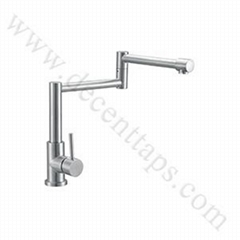 stainless steel fold-able kitchen faucet
