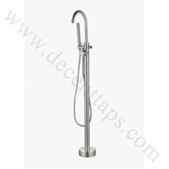 stainless steel floor mounted bath faucet