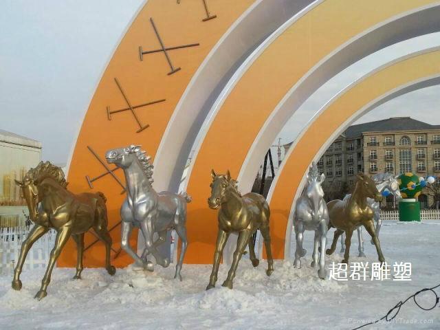 玻璃钢动物雕塑 1