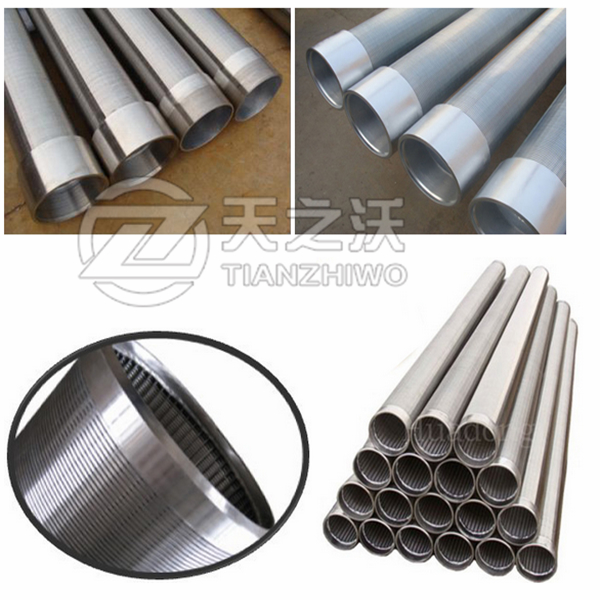 stainless steel johnson v wire water well screen pipe  1