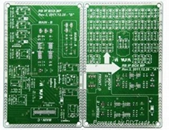 Double-Sided Automobile Printed Circuit Board with ROHS UL Approved