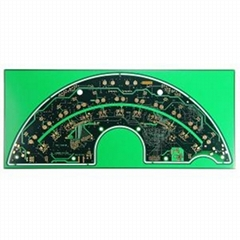TS16949 FR4 High TG150 Flash Gold 8 Layers HDI Keyboard PCB