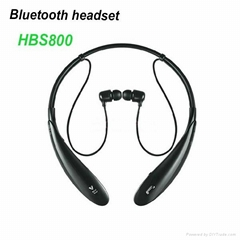 HBS800 Neck Strap stereo wireless bluetooth headset with microphone