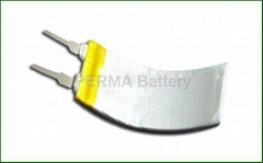 Latest Li-polymer battery in curved shapes for wearable devices