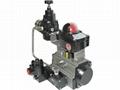 Rotary double single pneumatic actuator for control va  e 2