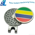 Professional supply metal golf magnetic hat clip with ball marker 1