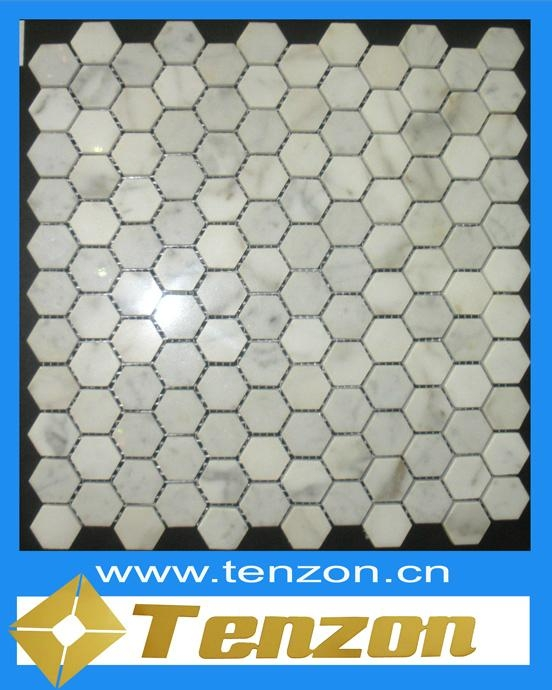 POLISHED LIGHT GREY MARBLE MOSAIC 1