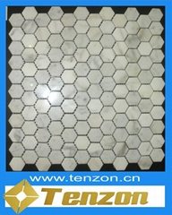 POLISHED LIGHT GREY MARBLE MOSAIC