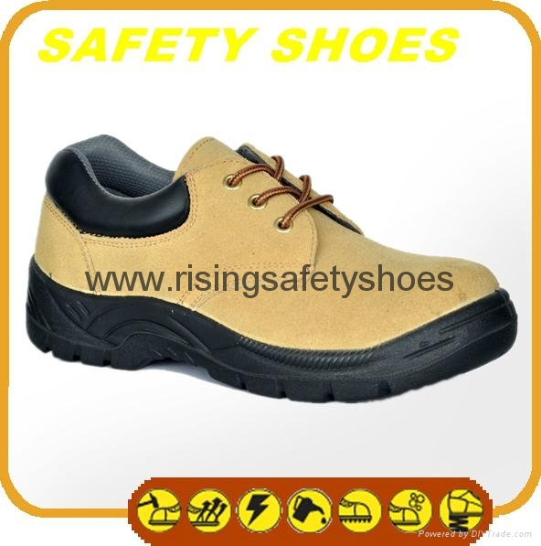 durable ce certificated genuine leather safety shoes 4