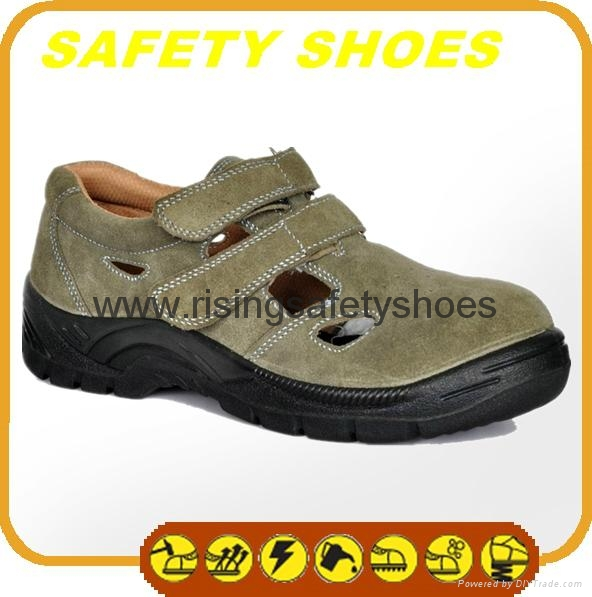 durable ce certificated genuine leather safety shoes 3