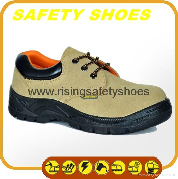 durable ce certificated genuine leather safety shoes 1