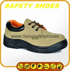 durable ce certificated genuine leather safety shoes