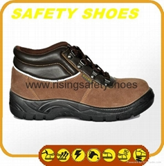 2014-2015 new made in china anti oil anti slip genuine leather safety work shoes