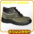2014-2015 new made in china anti oil anti slip genuine leather safety work shoes 4