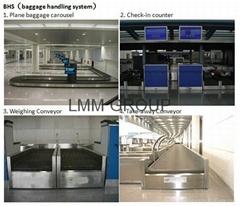 Airport baggage weighing conveyor (BHS)