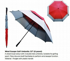 Wind Escape Golf Umbrella