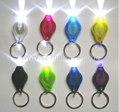uv led keychain, PVC led keychain light