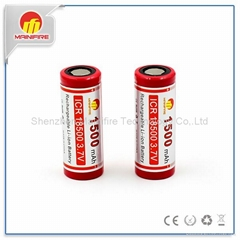 Factory price ICR 18500 battery for 18T6 flashlight powerful Li-ion rechargeable