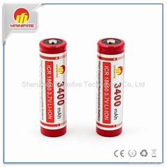 ICR18650 pack 3400mAh 3.7V Li-ion battery with button top 1865 battery