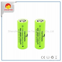 High quality vappower 18500 lithium battery 3.7v 1100mah 10a li-ion rechargeable