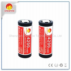 Protected Original Lithium ion Li-ion 26650 4200mAh 3.7V Rechargeable Battery