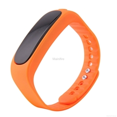 call alarm silicone Anti-lost Vibrating Bluetooth e02 smart bracelet