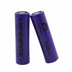 Original Mainifire IMR18650 3200mAh 40A 3.7V Purple rechargeable Lithium battery