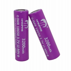 Original Mainifire IMR18650 3200mAh 40A 3.7V Purple rechargeable Lithium battery